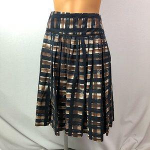 Zara basic pleated skirt 100% cotton Sz S